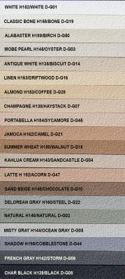 Trucolor Pre Mixed Grout Chart